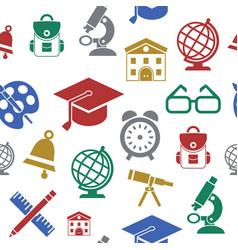 digital green red yellow school vector image
