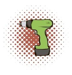 Drill comics icon vector image