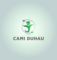 Education yoga logo design inspiration vector