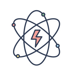 energy hazard symbol of power industry with orbits vector image