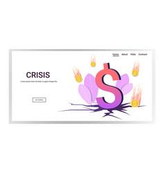 Falling down dollar coins financial crisis vector