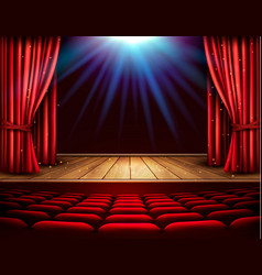 Festival night show poster a theater stage with a vector