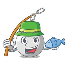 Fishing wrecking ball isolated on a mascot vector