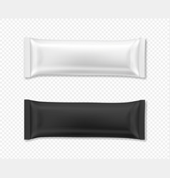 Flow package mockup realistic vector