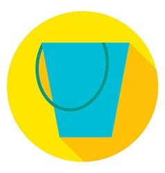 Garden Tool Bucket Circle Icon vector image