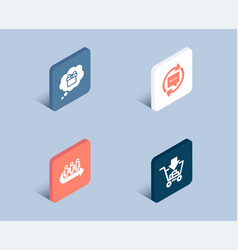gift dream queue and update comments icons vector image