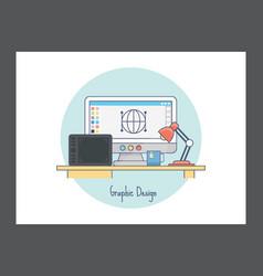 Graphic design icon vector