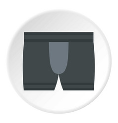 gray male underwear icon circle vector image