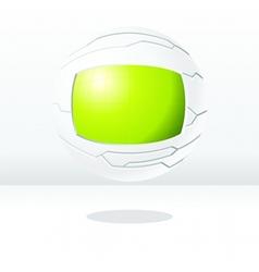 Green and white futuristic globe vector