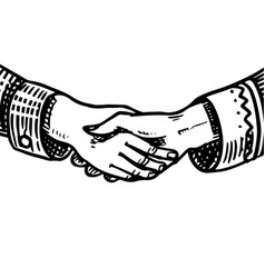 handshake peoples symbol friendship and vector image