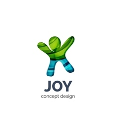 Happy person logo business branding icon vector image