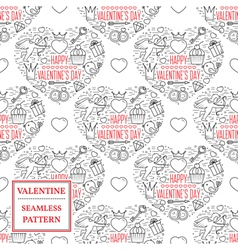 Happy valentines day Valentine seamless pattern vector image