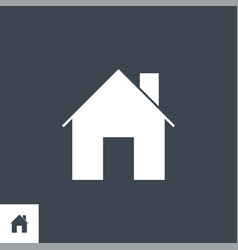 home related glyph icon vector image