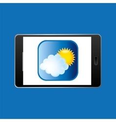 icon smartphone weather icon design vector image