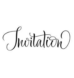 invitation lettering vector image