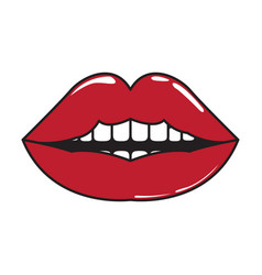 Isolated comic lips icon vector
