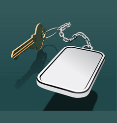 key with keychain on a chain with a place vector image