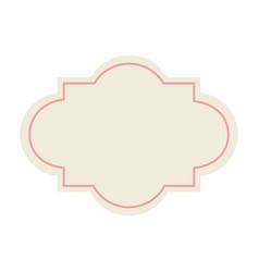 Label decoration premium template blank design vector