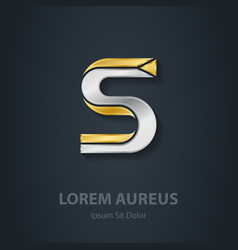 Letter S Template for company logo 3d Design vector