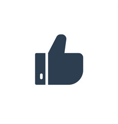 like thumb up solid flat icon vector image