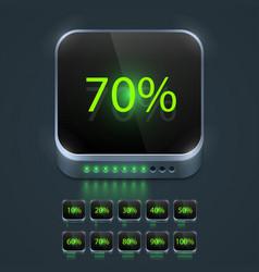 Loading button set vector