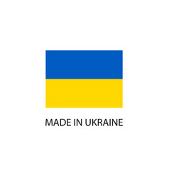 made in ukraine sign vector image