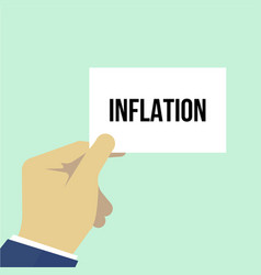 man showing paper inflation text vector image