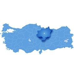 Map of Turkey Sivas vector