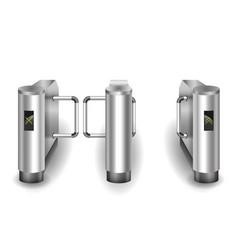 metal turnstiles to enter vector image