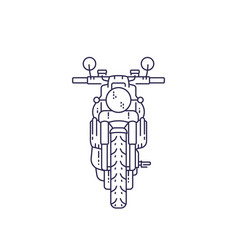 motorcycle retro motorbike on white vector image