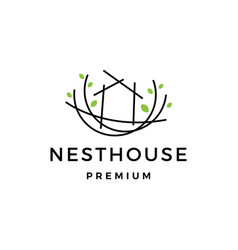 nest house logo icon vector image