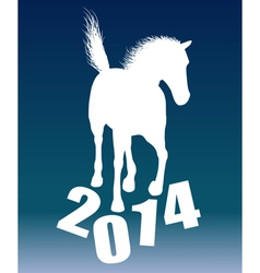 New year horse 2014 vector image