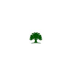 Oak tree logo design stock vector