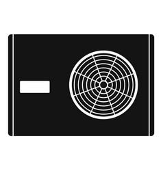 Outdoor compressor of air conditioner icon vector