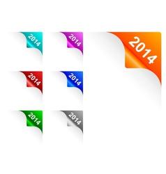 Paper corners 2014 vector image vector image
