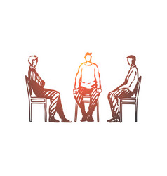 people psychologist problem therapy vector image