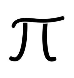 Pi glyph icon vector