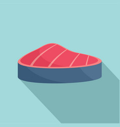 piece of tuna icon flat style vector image