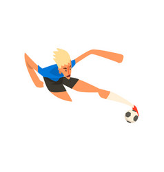 player shooting a soccer ball vector image