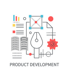 Product development concept vector