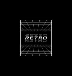 Retrowave t-shirt and apparel design vector