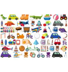 Set various objects cartoon vector