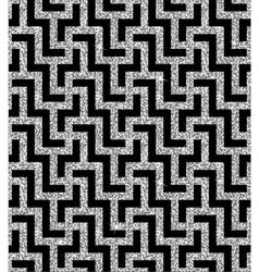 Silver oriental swastika pattern vector