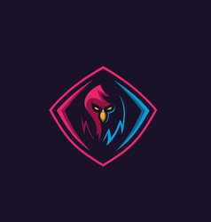 Simple bird logo for gaming squad vector