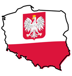 Simplified map of poland outline with slightly vector