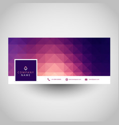 Social media cover with geometric design vector