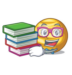 student with book planet venus isolated with on vector image