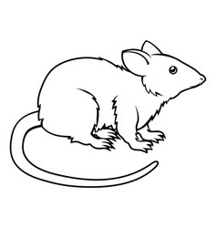 Stylised rat vector