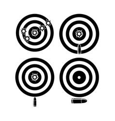 Target bullet designs vector