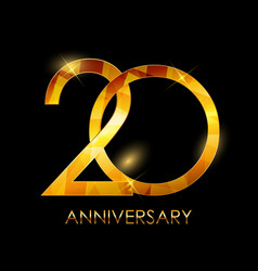 Template 20 years anniversary congratulations vector